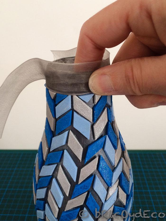 reciclar-botella-de-vidrio-jarron-mosaico