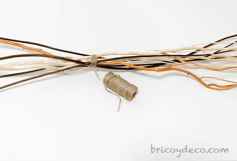 atar ramas con cuerda